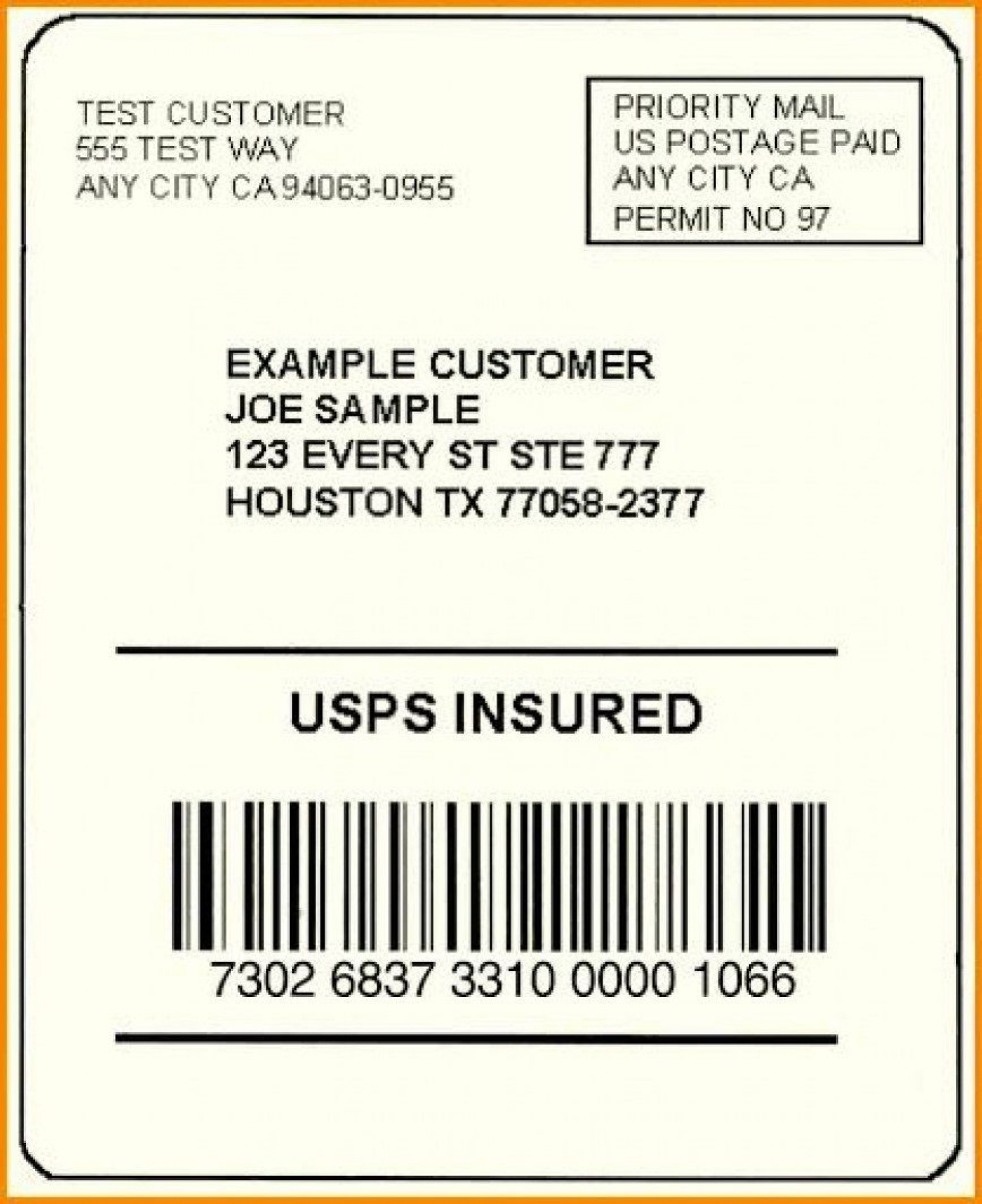 002 Exceptional Free Usp Shipping Label Template Sample 1400