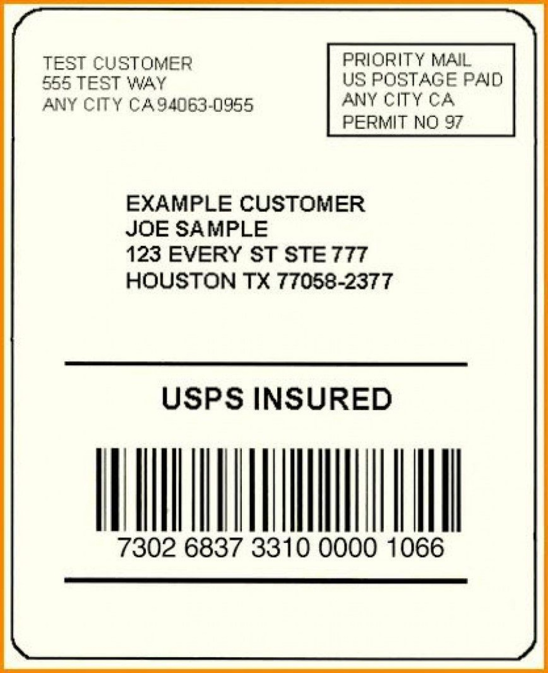 002 Exceptional Free Usp Shipping Label Template Sample 1920