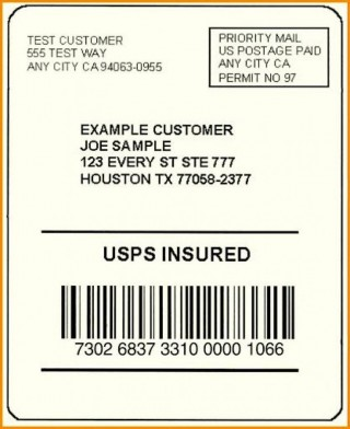 002 Exceptional Free Usp Shipping Label Template Sample 320