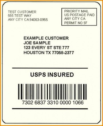 002 Exceptional Free Usp Shipping Label Template Sample 360