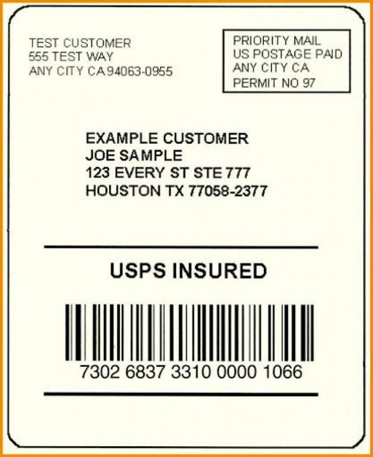 002 Exceptional Free Usp Shipping Label Template Sample 728