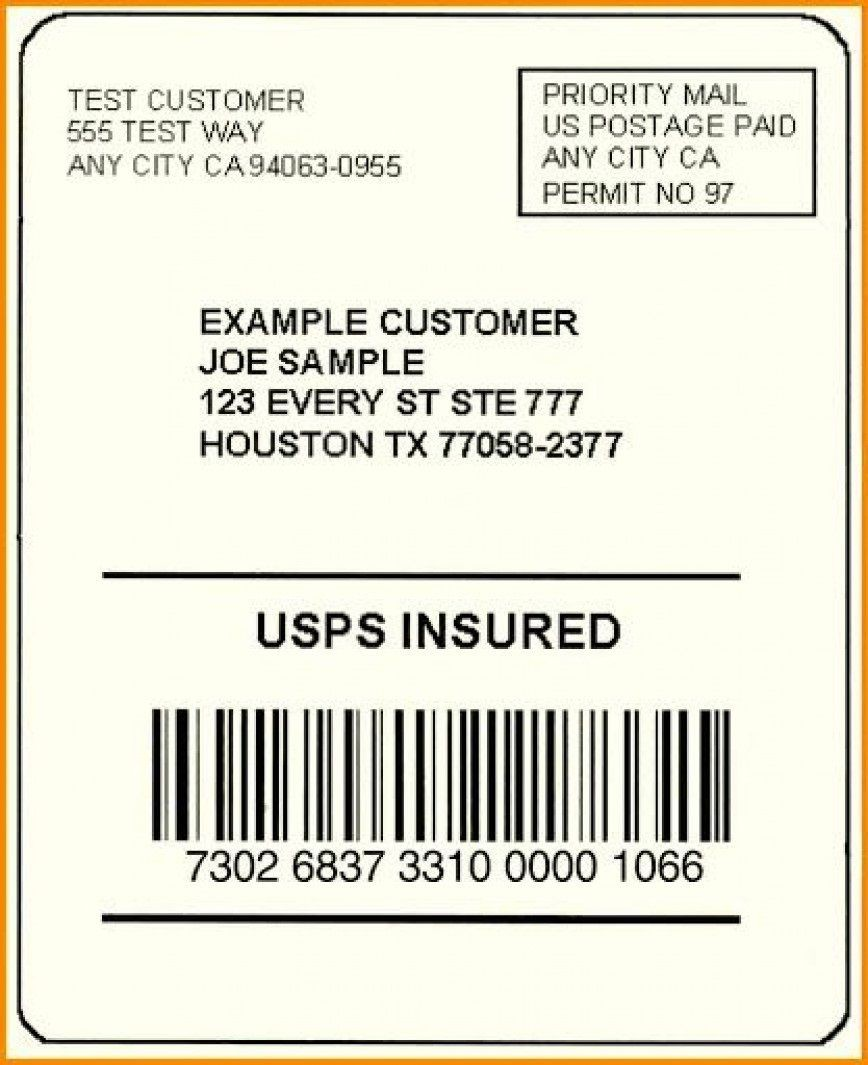 002 Exceptional Free Usp Shipping Label Template Sample 868