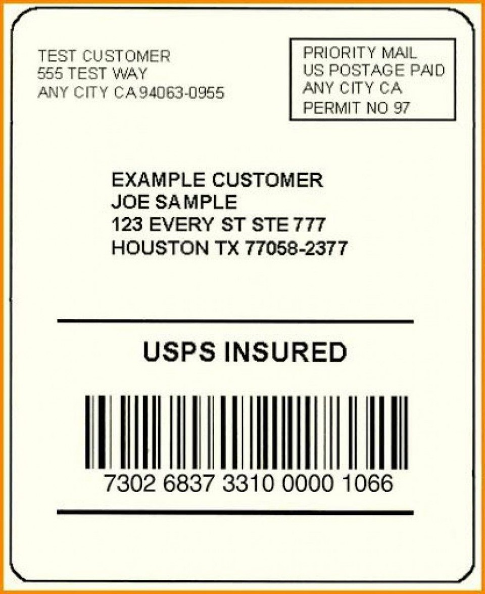 002 Exceptional Free Usp Shipping Label Template Sample 960