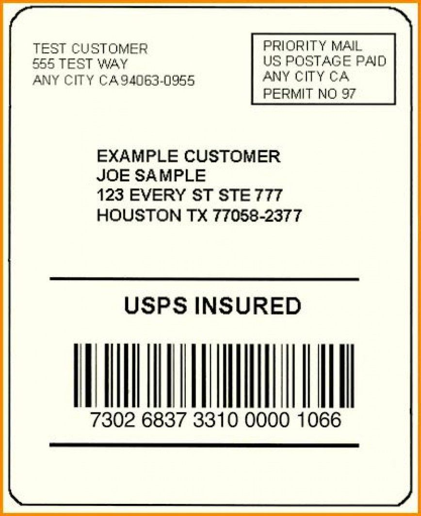 002 Exceptional Free Usp Shipping Label Template Sample Full