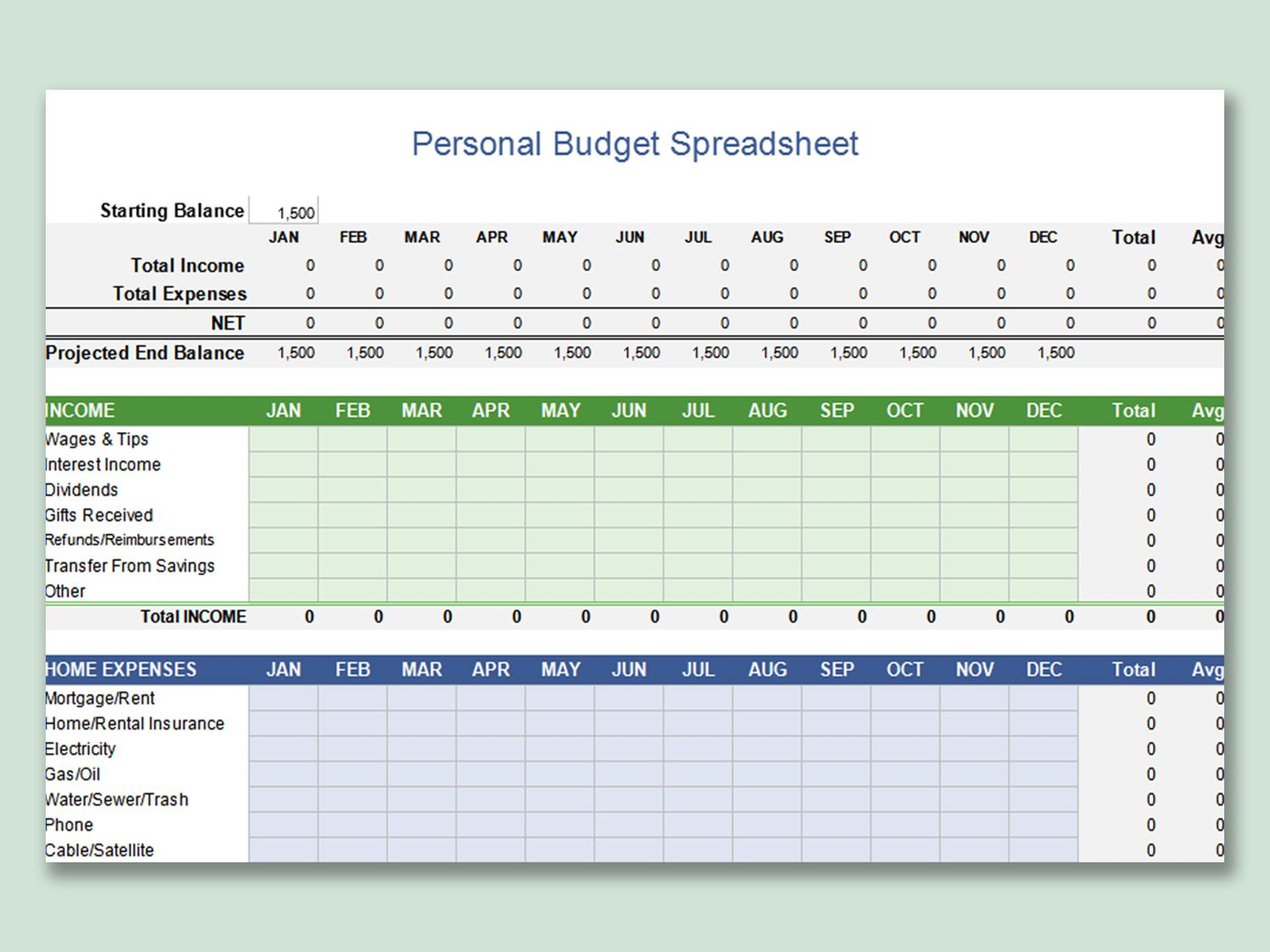 002 Exceptional Microsoft Excel Personal Budget Template Image  MonthlyFull