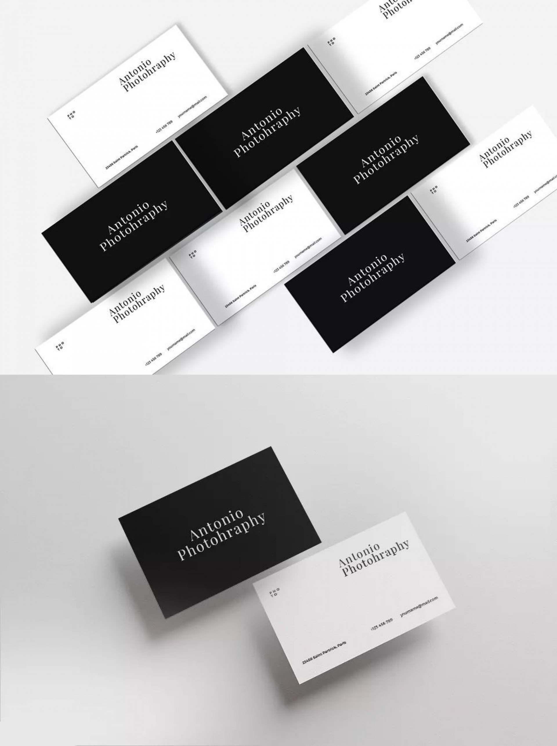 002 Exceptional Minimal Busines Card Template Psd Photo  Simple Visiting Design In Photoshop File Free Download1920