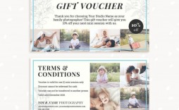 002 Exceptional Photography Session Gift Certificate Template Concept  Photo Free Photoshoot