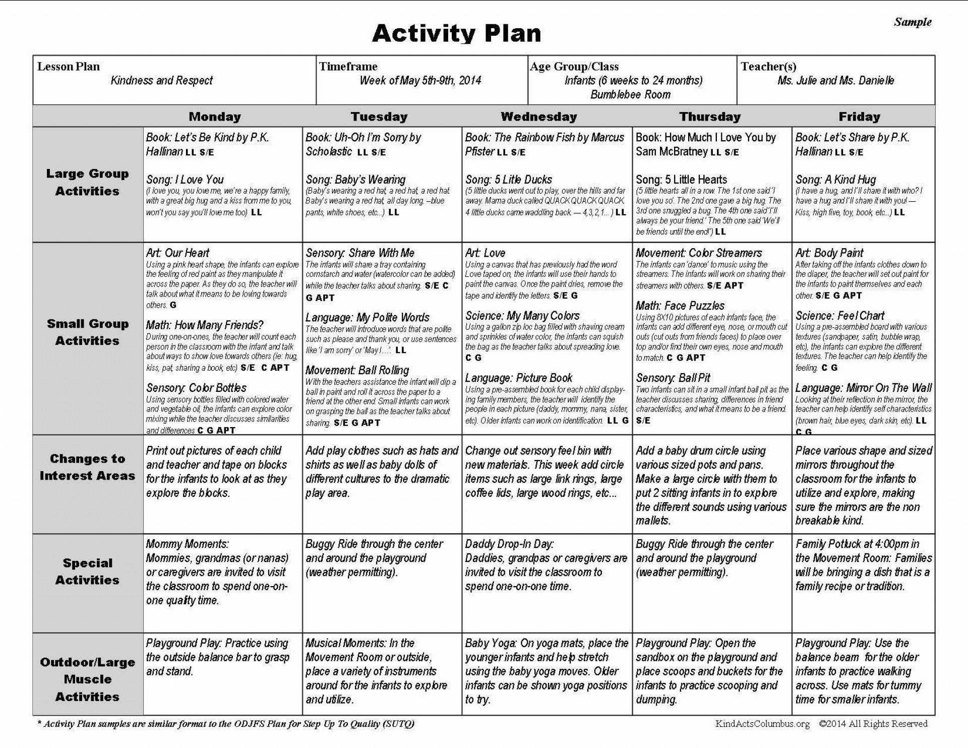 002 Exceptional Sample Pre K Lesson Plan Template High Def  Preschool Format Pre-k1920