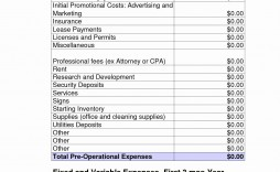 002 Exceptional Start Up Budget Template Photo  Busines Pdf Free Startup Excel Capital