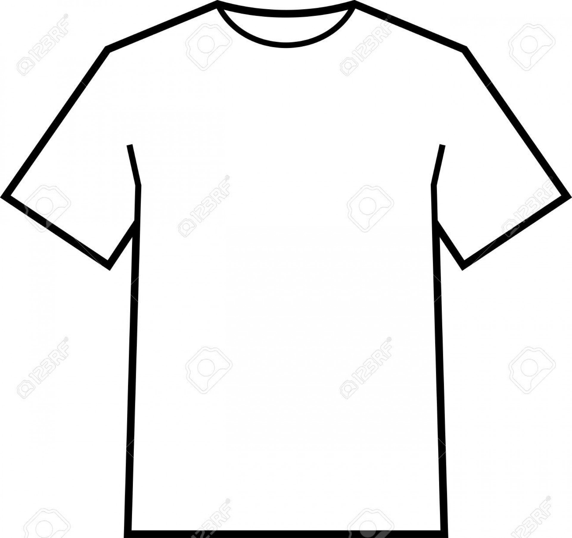 002 Fantastic Blank Tee Shirt Template Highest Clarity  T Design Pdf Free T-shirt Front And Back Download1920