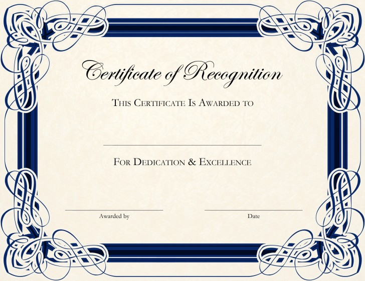 002 Fantastic Certificate Of Award Template Word Free Concept 728