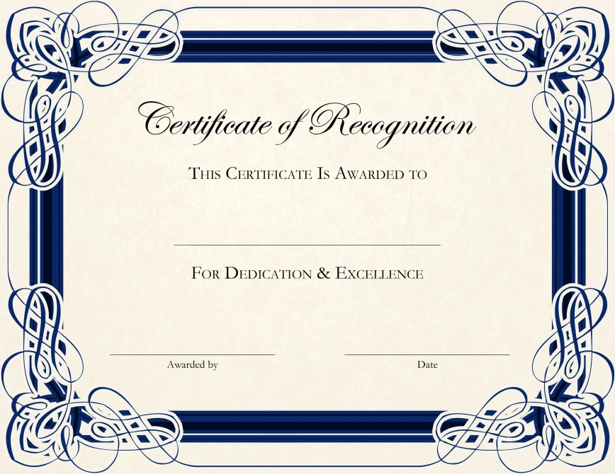 002 Fantastic Certificate Of Award Template Word Free Concept 868