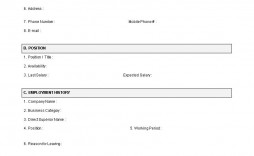 002 Fantastic Employment Application Template Word Highest Clarity  Form Document Employee Sample