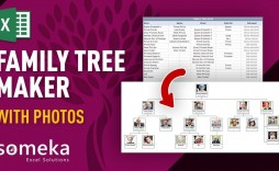 002 Fantastic Excel Family Tree Template Sample  7 Generation 4