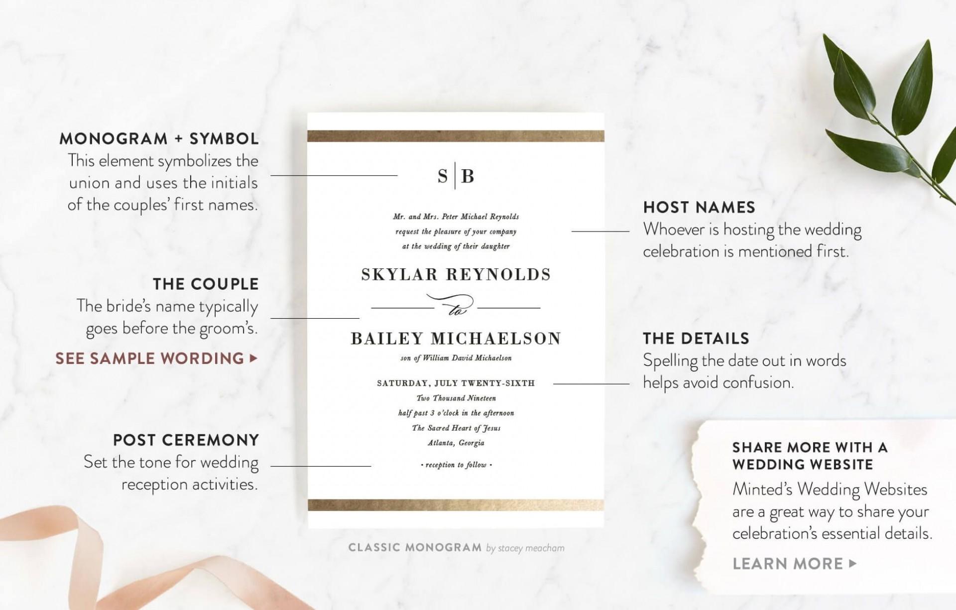 002 Fantastic Formal Wedding Invitation Wording Template Design  Templates1920