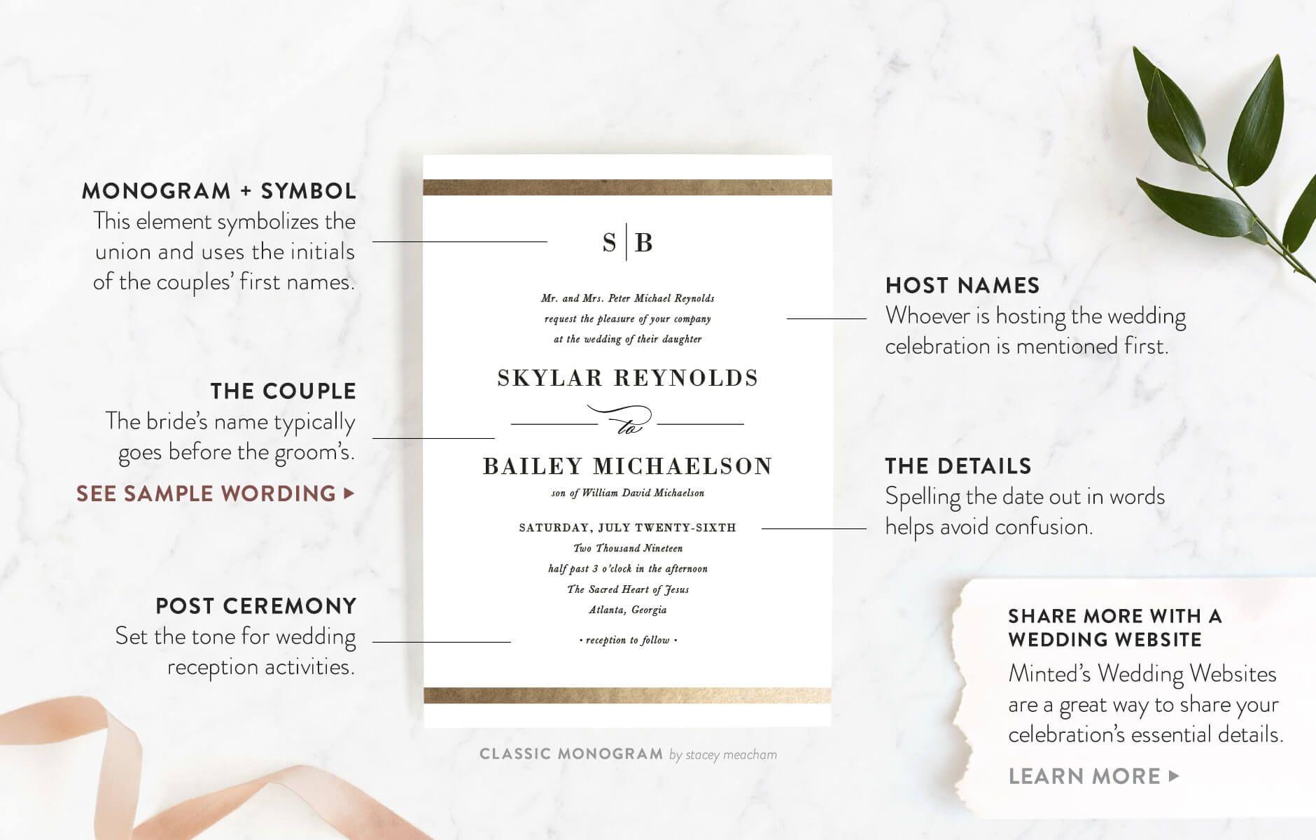 002 Fantastic Formal Wedding Invitation Wording Template Design  TemplatesFull