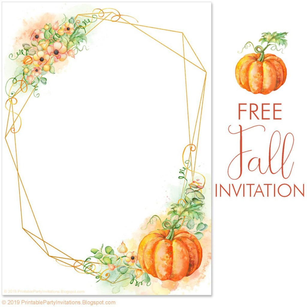 002 Fantastic Free Fall Invitation Template Printable Idea  Wedding For Mac Sunflower BurgundyLarge