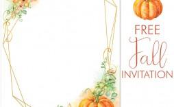 002 Fantastic Free Fall Invitation Template Printable Idea  Wedding For Mac Sunflower Burgundy