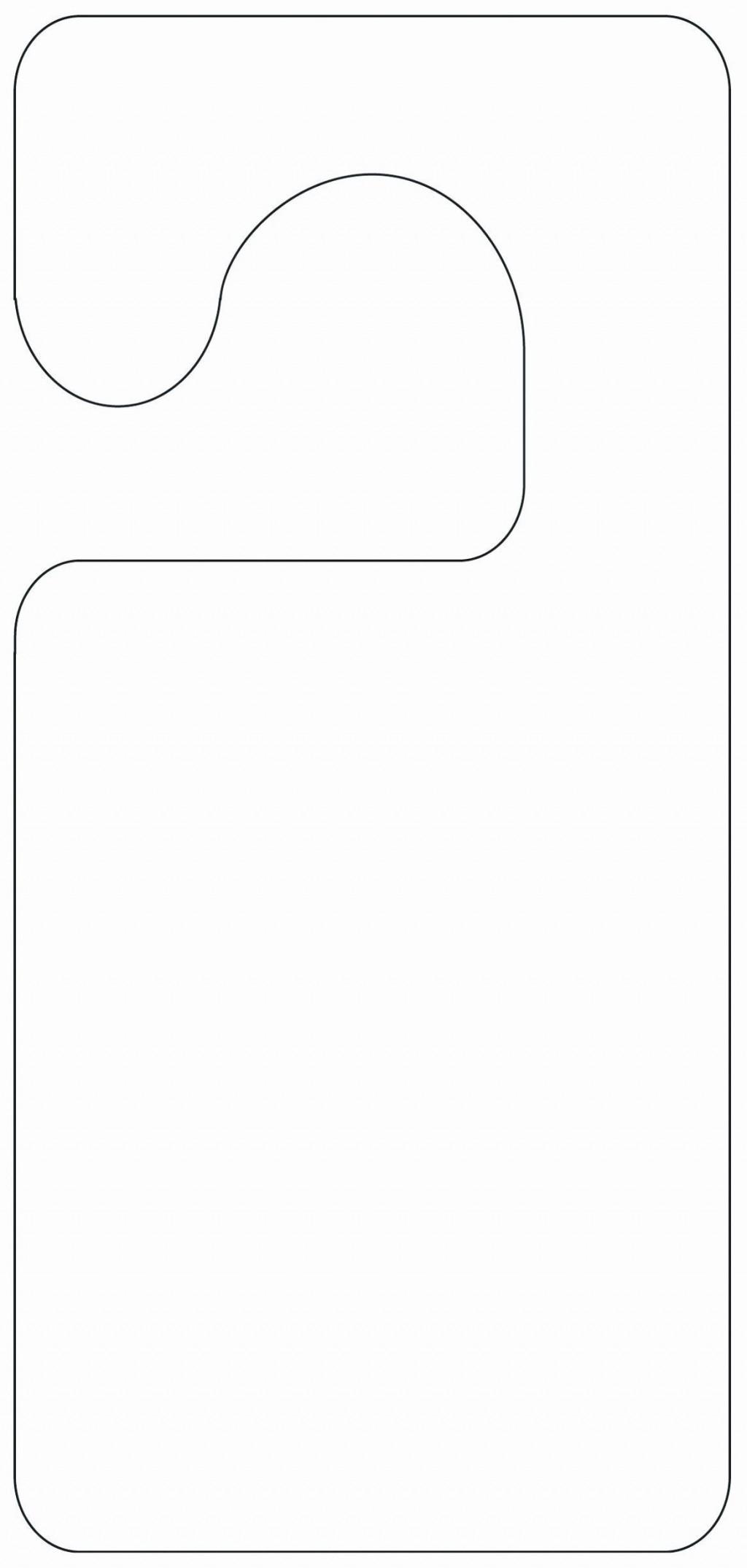 002 Fantastic Free Template For Door Hanger Word Image  WeddingLarge
