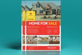 002 Fantastic House For Sale Flyer Template Highest Clarity  Free Real Estate Example By Owner