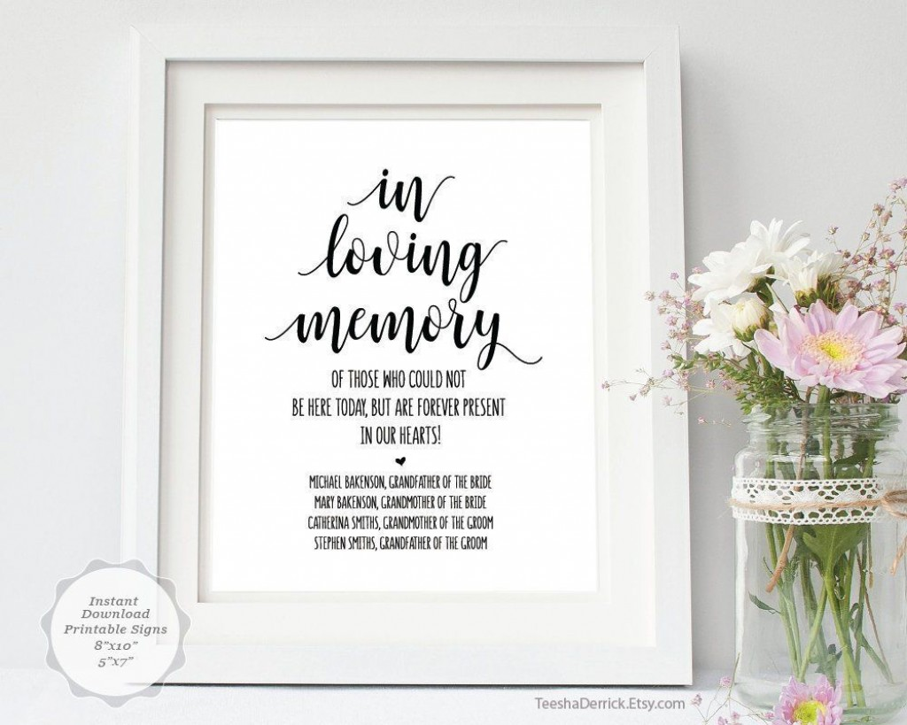 002 Fantastic In Loving Memory Template Image  Templates WordLarge