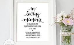 002 Fantastic In Loving Memory Template Image  Templates Word