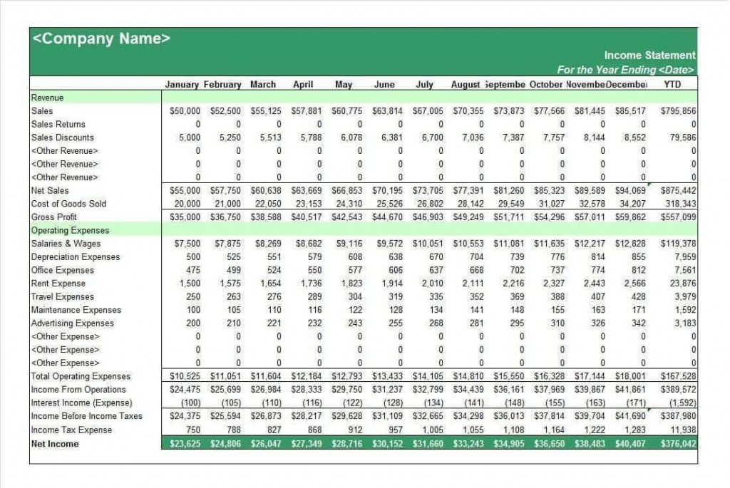 002 Fantastic Income Statement Format In Excel With Formula Example Large