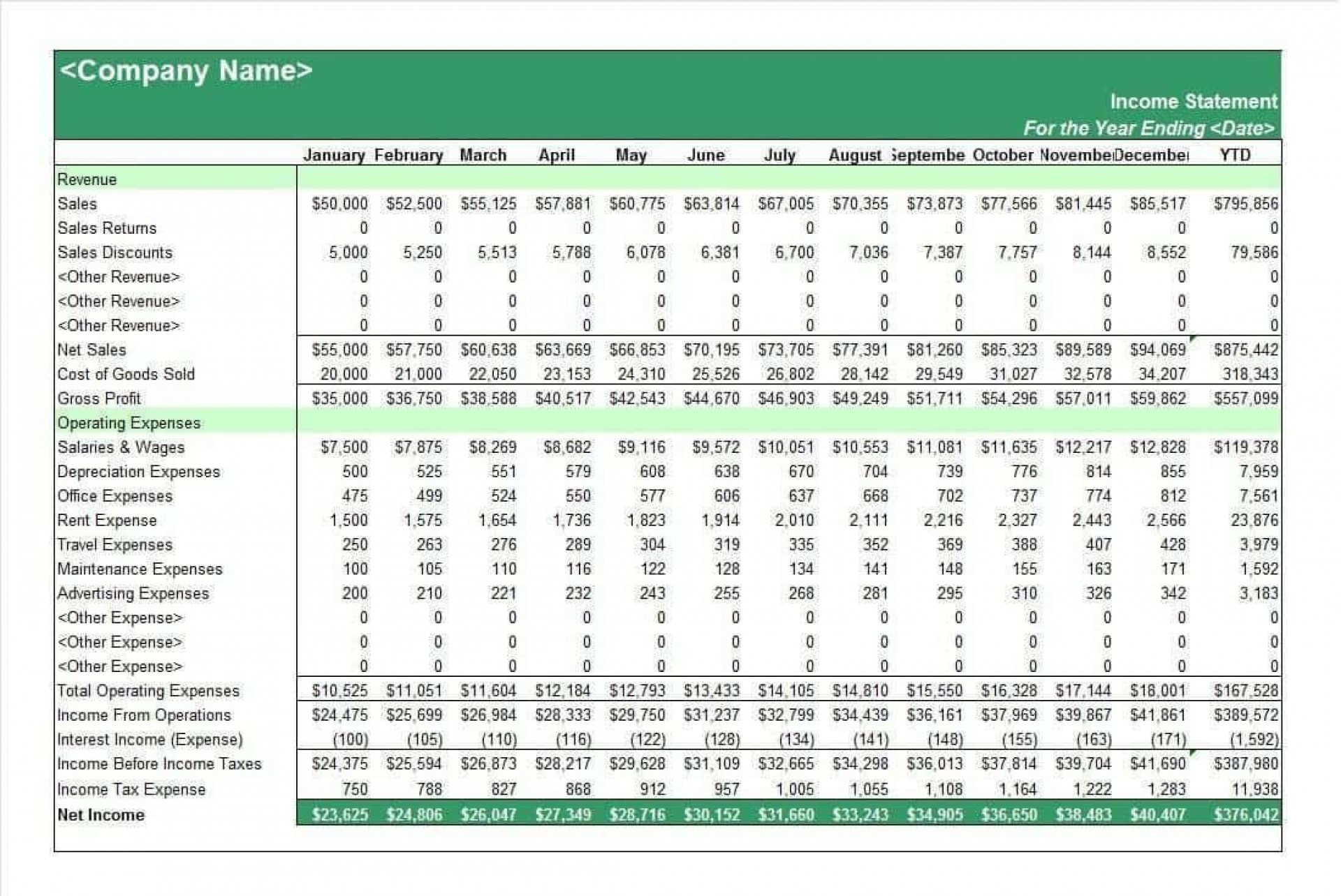 002 Fantastic Income Statement Format In Excel With Formula Example 1920