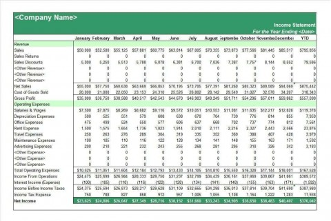 002 Fantastic Income Statement Format In Excel With Formula Example 480