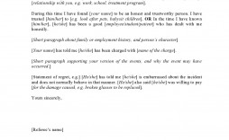 002 Fantastic Letter Of Reference Template Sample  For Employee Word Coworker Teacher