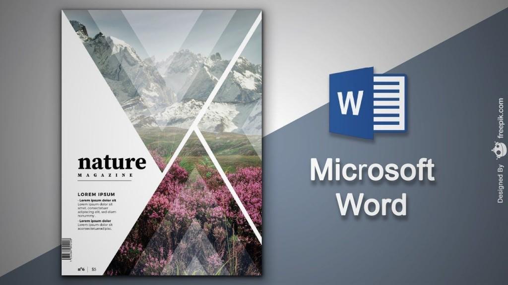 002 Fantastic Magazine Template For Microsoft Word Sample  Layout Design DownloadLarge