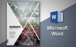 002 Fantastic Magazine Template For Microsoft Word Sample  Layout Design Download