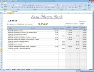 002 Fantastic Microsoft Excel Checkbook Template Concept  Register 2010320