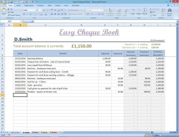 002 Fantastic Microsoft Excel Checkbook Template Concept  Register 2010360