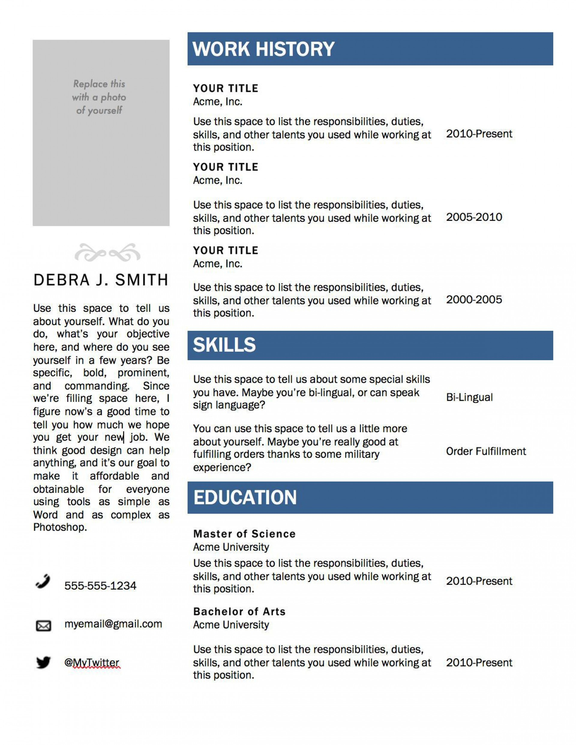 002 Fantastic M Word Template Resume High Definition  Attractive Free Download Microsoft 2010 Downloadable Blank1920