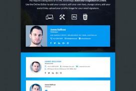002 Fantastic Professional Email Signature Template Photo  Busines Download