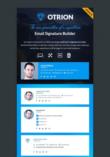 002 Fantastic Professional Email Signature Template Photo  Busines Download360
