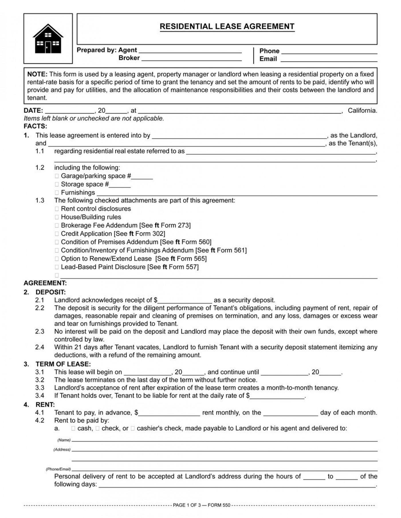 002 Fantastic Residential Lease Agreement Template Idea  Tenancy Form Alberta California1400