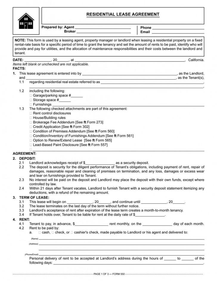 002 Fantastic Residential Lease Agreement Template Idea  Tenancy Form Alberta California728