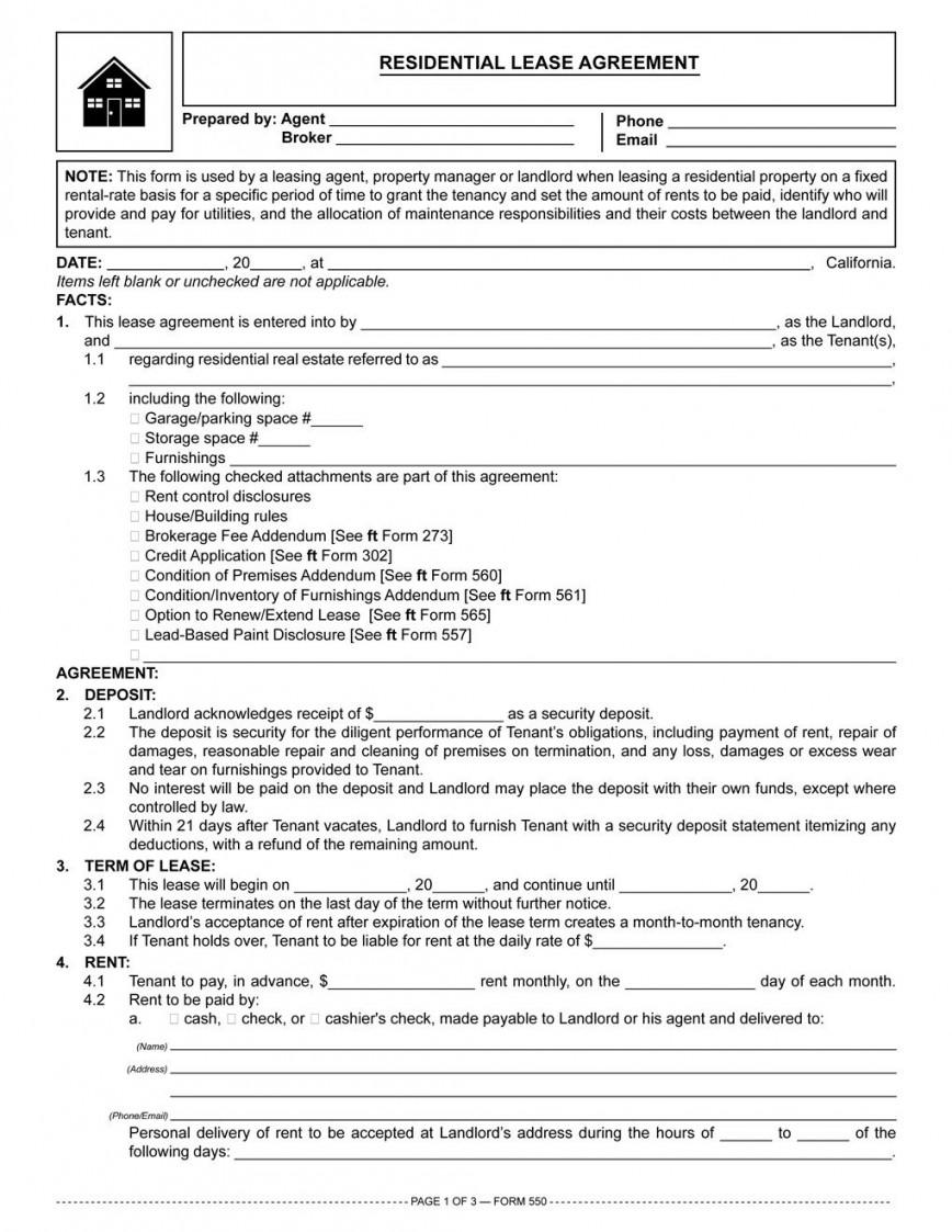 002 Fantastic Residential Lease Agreement Template Idea  Tenancy Form Alberta California868