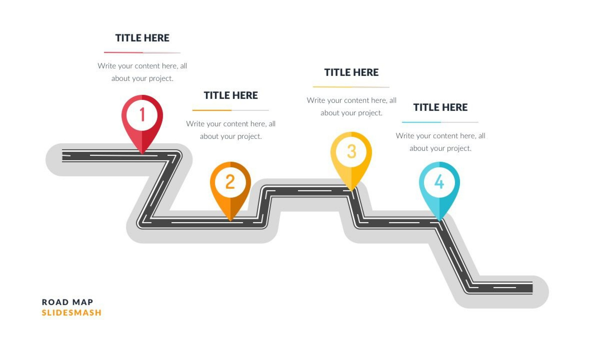 002 Fantastic Road Map Template Powerpoint Highest Clarity  Roadmap Ppt Free Download Product1920