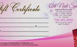 002 Fantastic Salon Gift Certificate Template Image  Templates