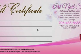 002 Fantastic Salon Gift Certificate Template Image