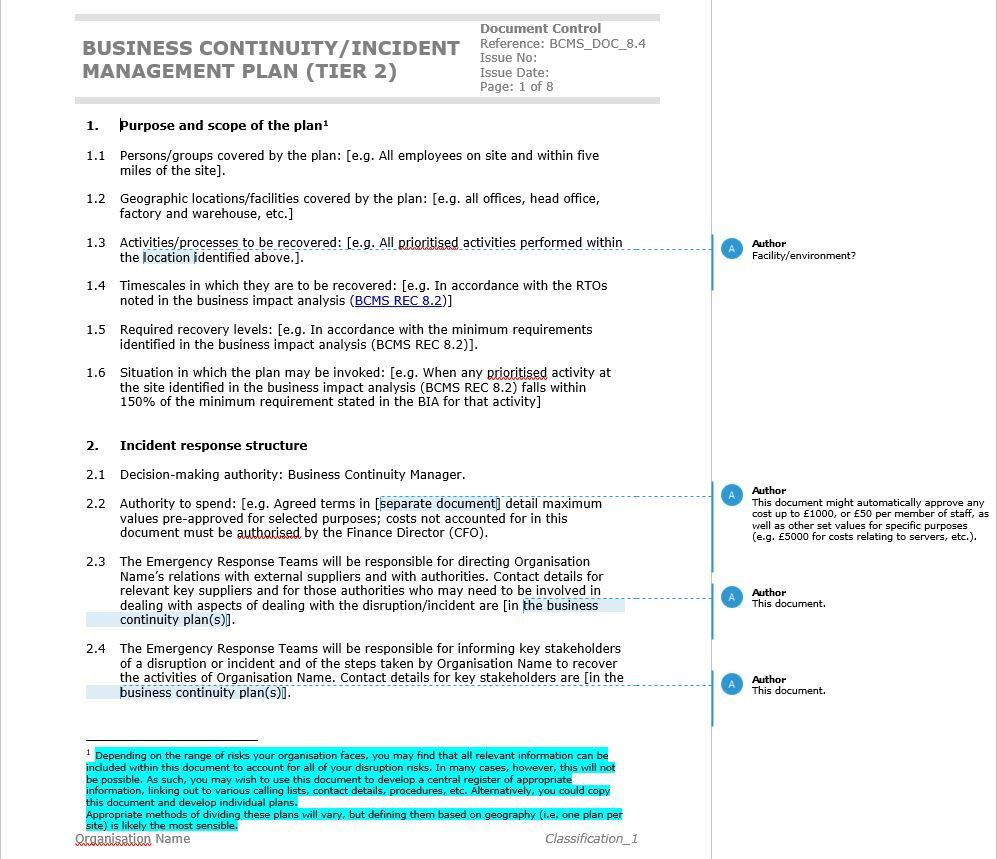002 Fantastic Simple Busines Continuity Plan Template Sample  Australia For Small Businesse Basic ExampleFull