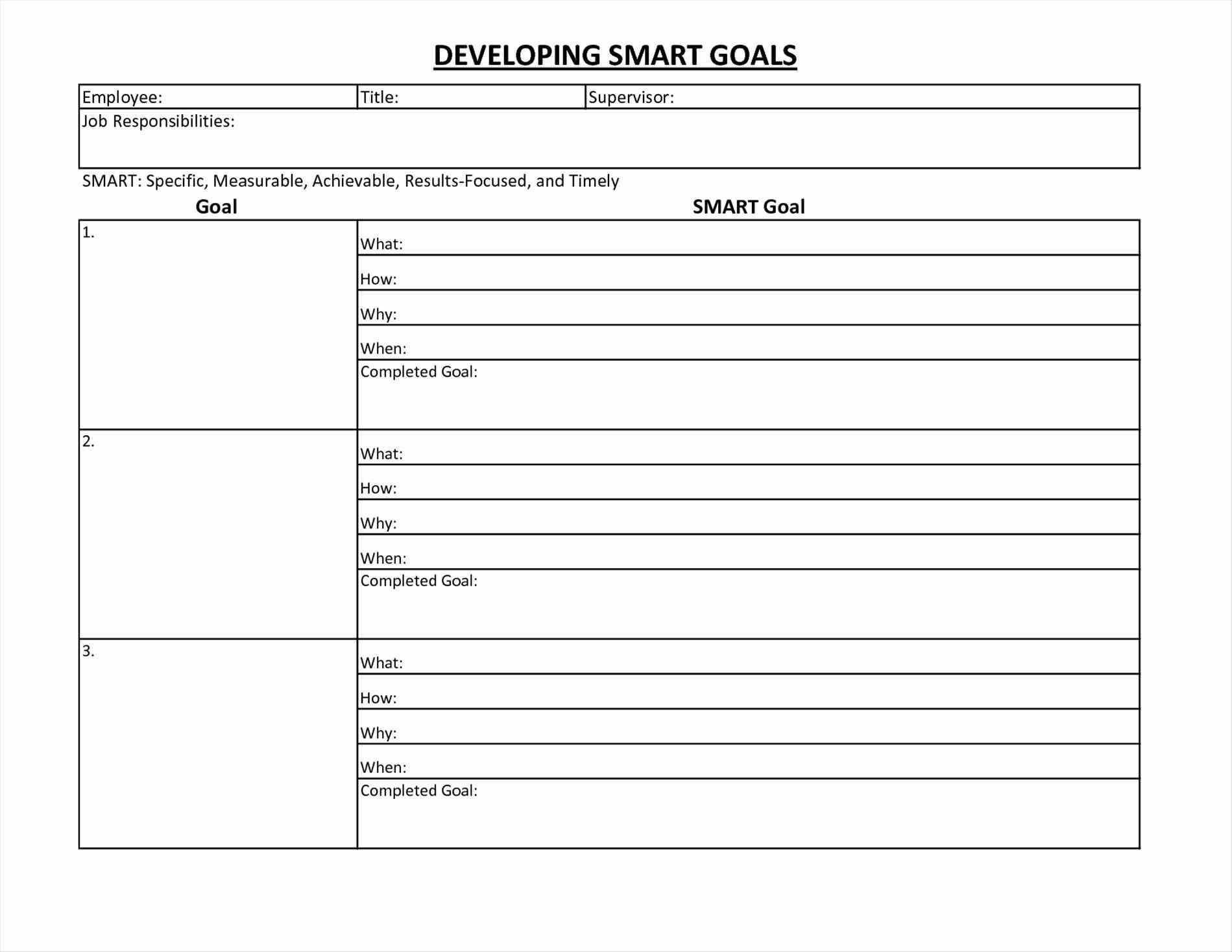 002 Fantastic Smart Goal Template Excel Sample  Free Setting WorksheetFull