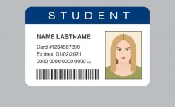 002 Fantastic Student Id Card Template High Resolution  Identity Psd Free Download Word