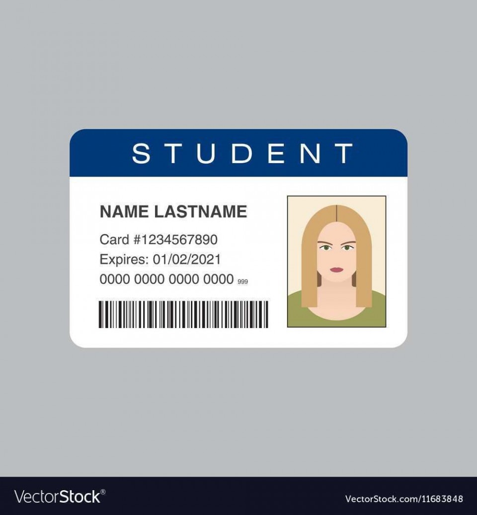 002 Fantastic Student Id Card Template High Resolution  Free Psd Download Word School960