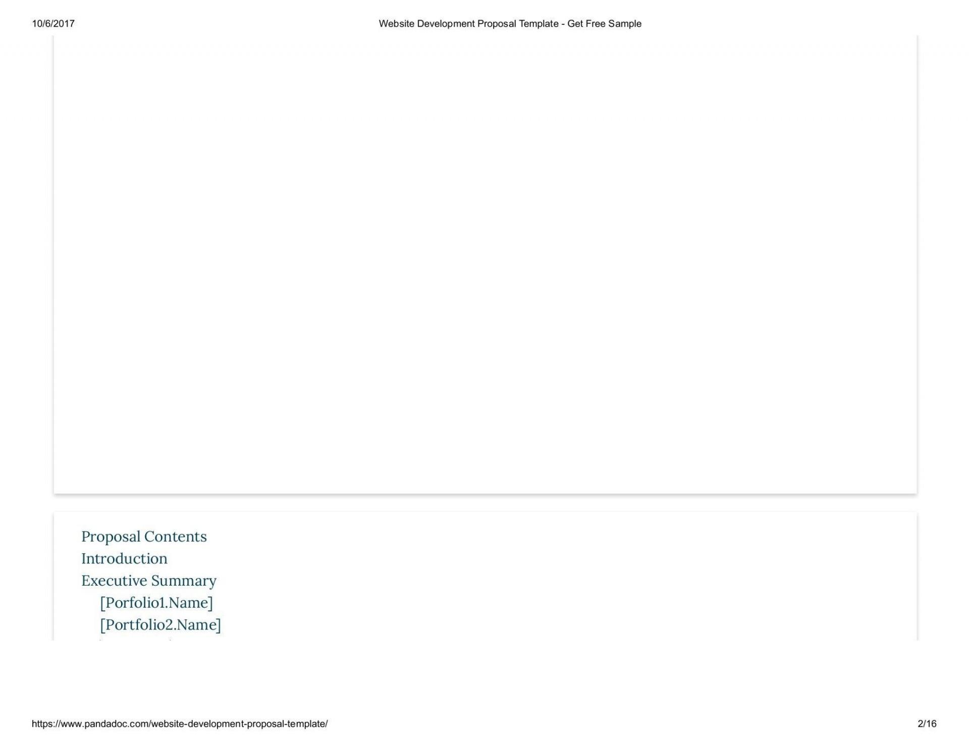 002 Fantastic Website Development Proposal Template Free Image  Word1920
