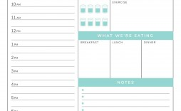002 Fascinating Daily Hourly Schedule Template Word High Definition
