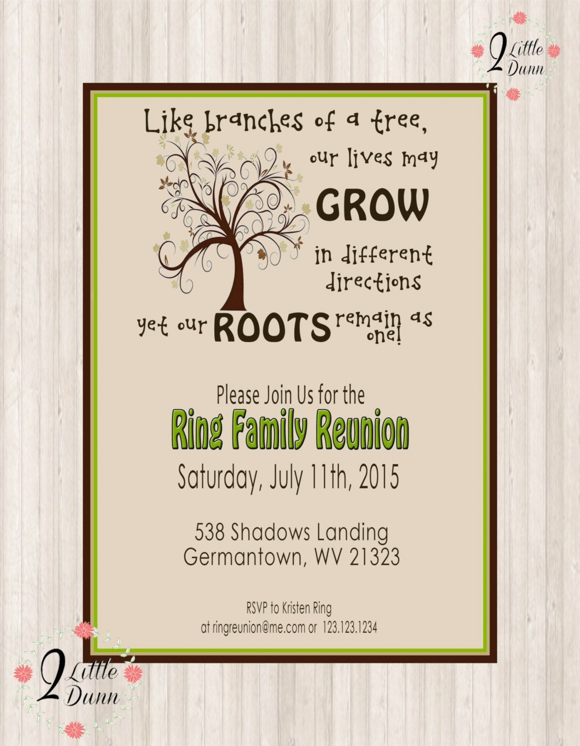002 Fascinating Family Reunion Flyer Template Example  Templates Free For1920
